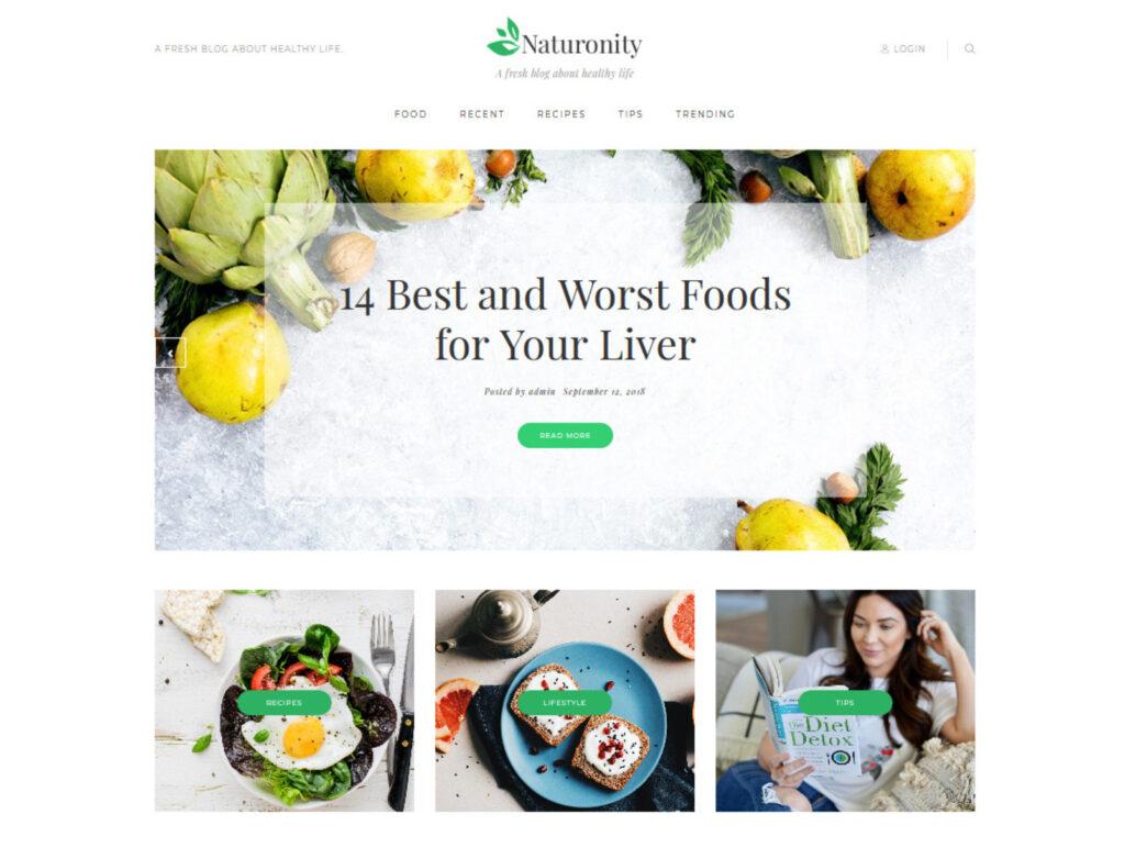 Naturonity Lifestyle Blog WordPress Theme