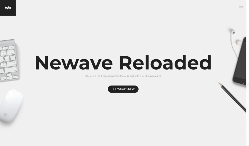 Newave Reloaded WordPress One Page Theme