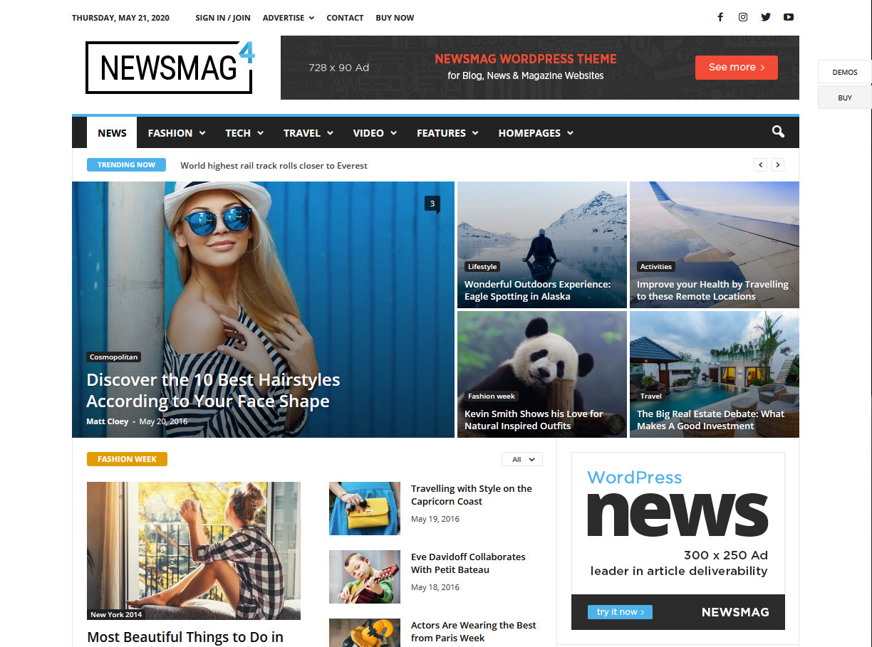 NewsMag Clean Professional Magazine Theme