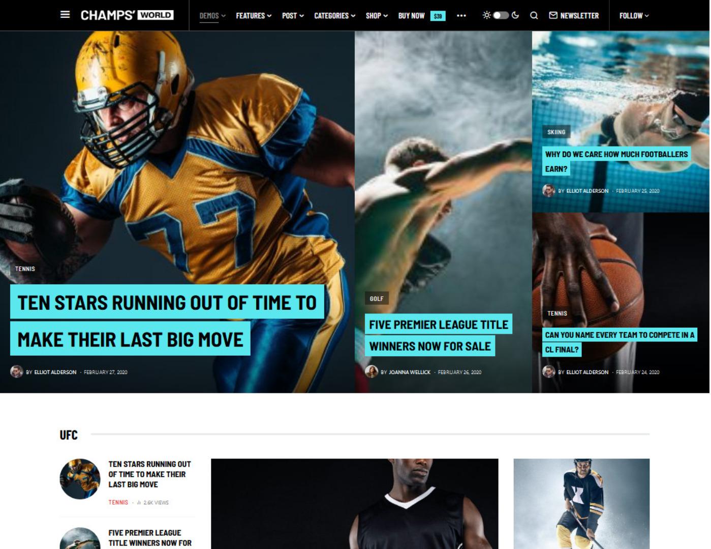 Newsblock Modern WordPress Theme with Dark Mode