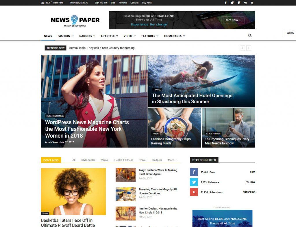 Newspaper WordPress News And Magazine Theme