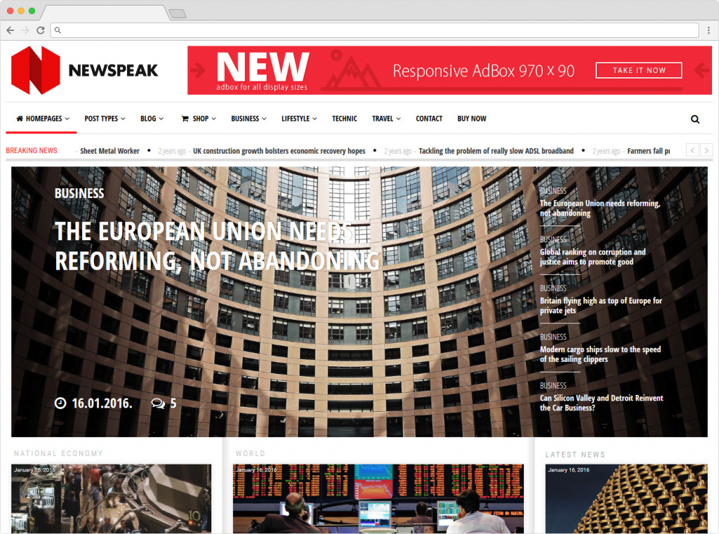 Newspeak WordPress SEO Optimized Theme