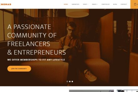 Nomad Co Working WordPress Theme