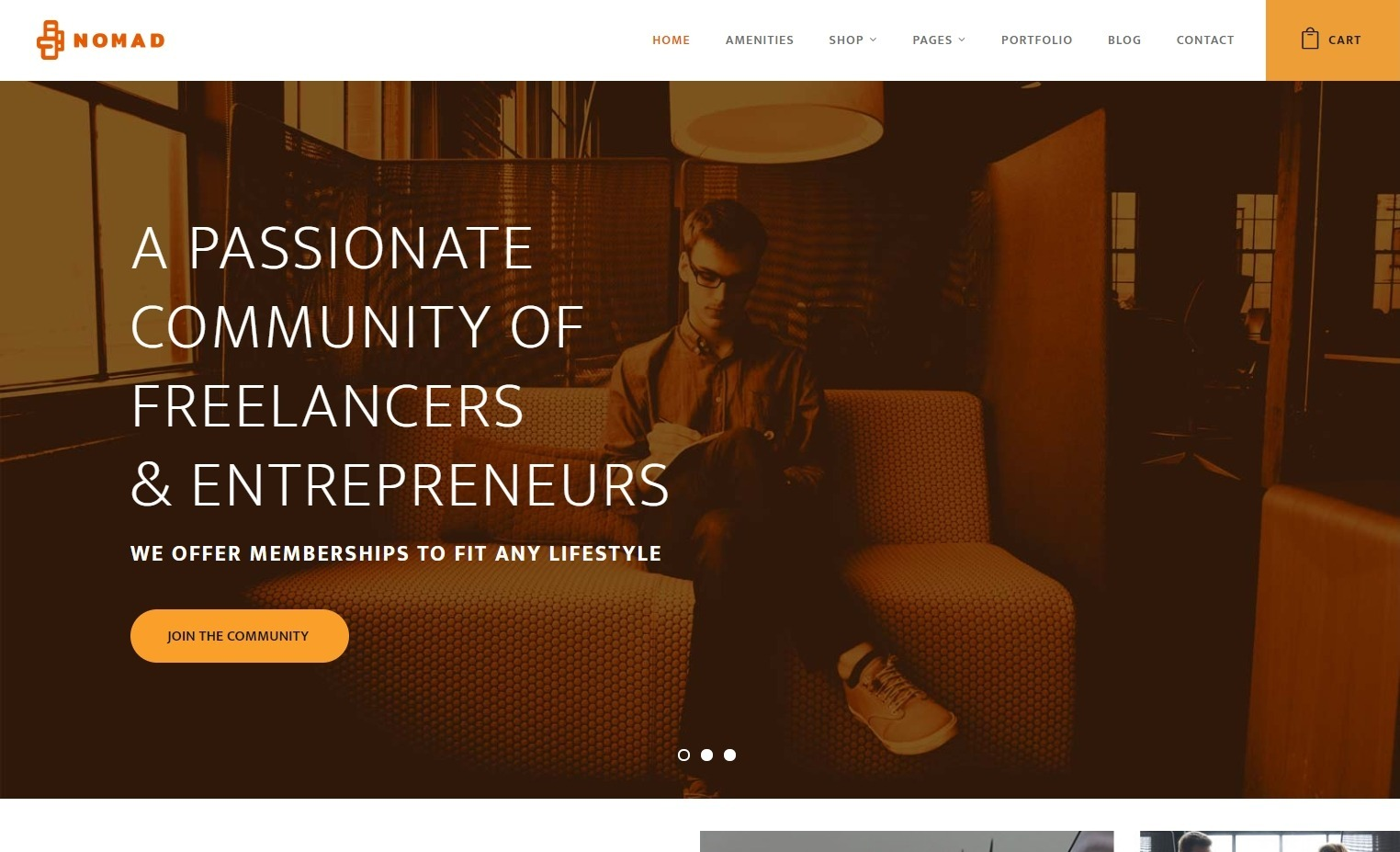Nomad Co Working WordPress Theme