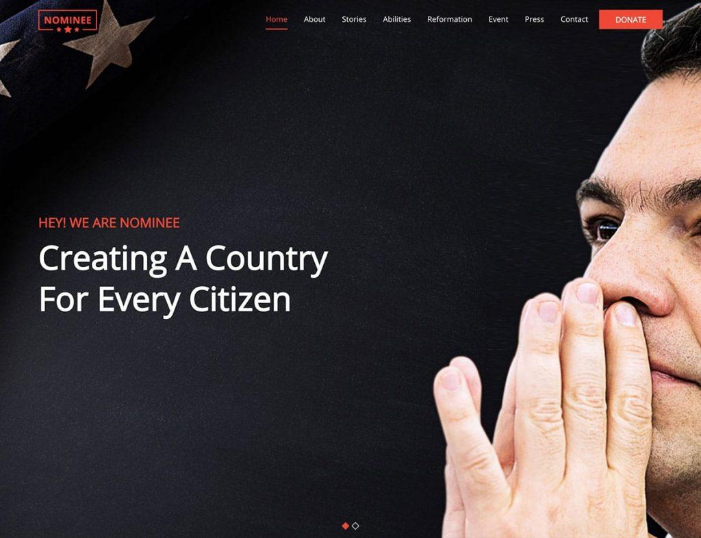 Nominee WordPress Theme For Politicians
