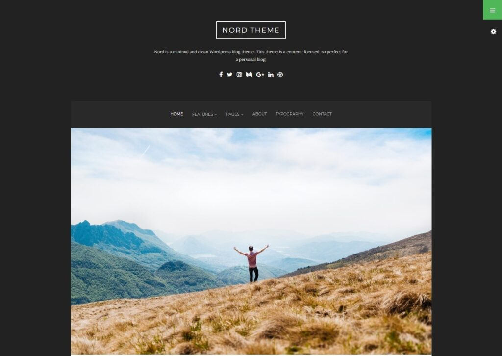 Nord Minimal and Clean WordPress Personal Blog Theme