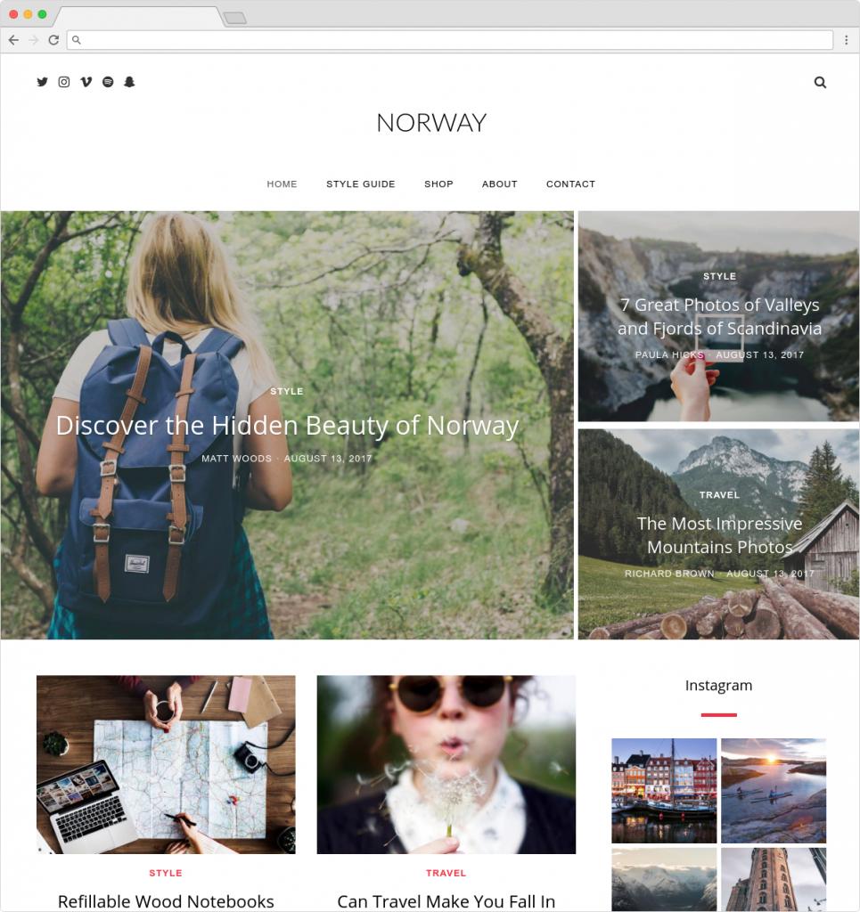 Norway Travel Blog And Magazine Theme