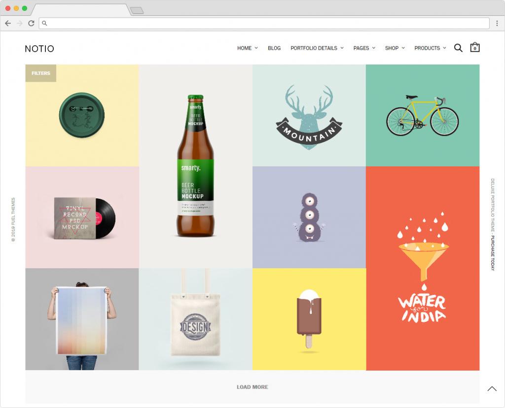 Notio Premium Grid Portfolio And WooCommerce Theme