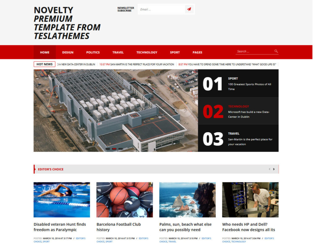 Novelty Digital Publishing WordPress Theme