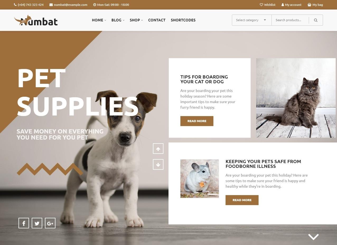 Numbat Theme eCommerce Pets Theme