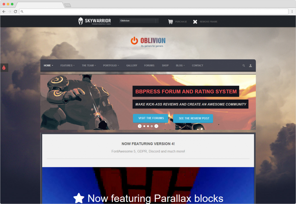 Oblivion WordPress Theme For Reviewing Services And Goods
