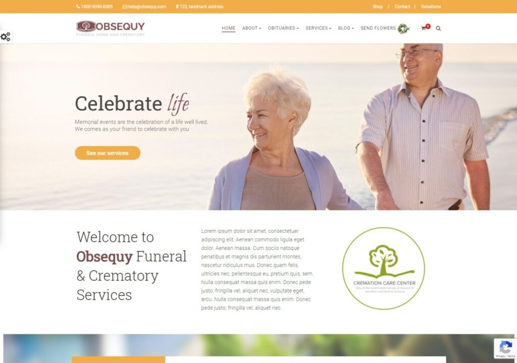 Obsequy Funeral Home WordPress Theme