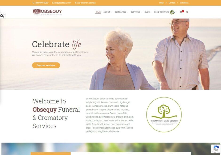 Obsequy Funeral Home WordPress Theme