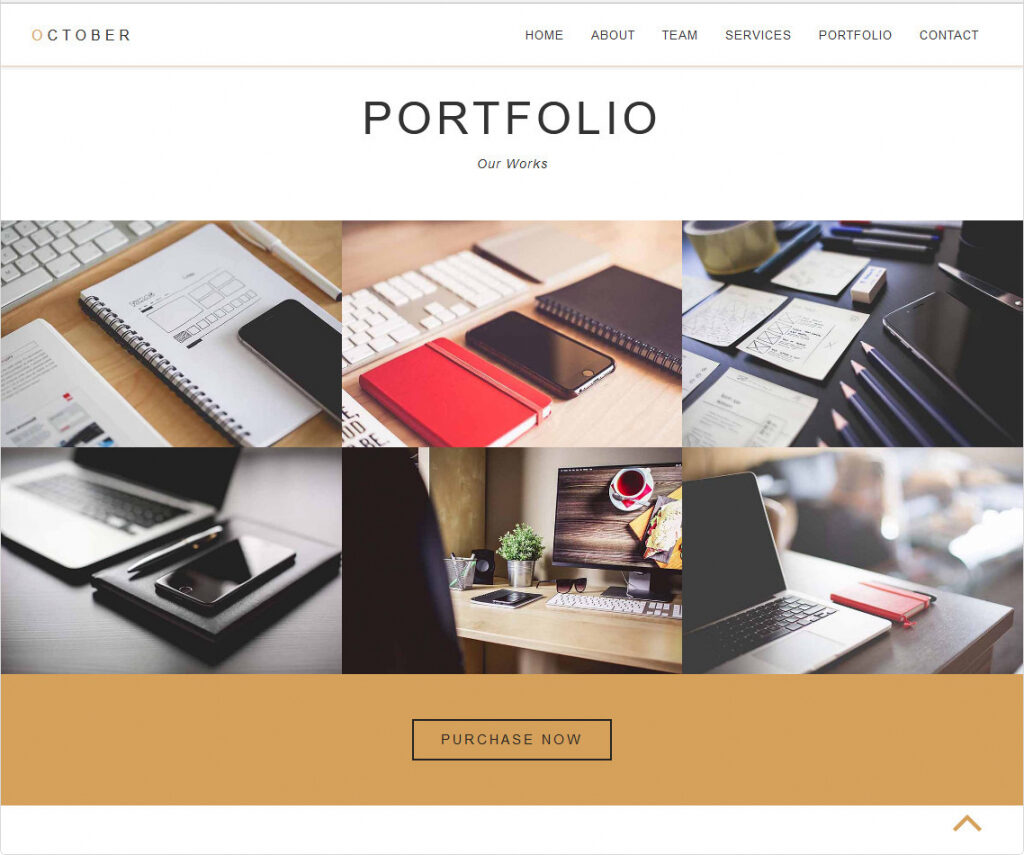 October Clean One Page Bootstrap WordPress Theme