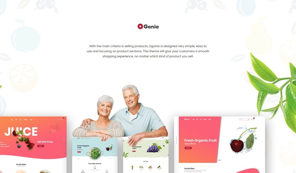 Ogania Organic Food WooCommerce WordPress Theme