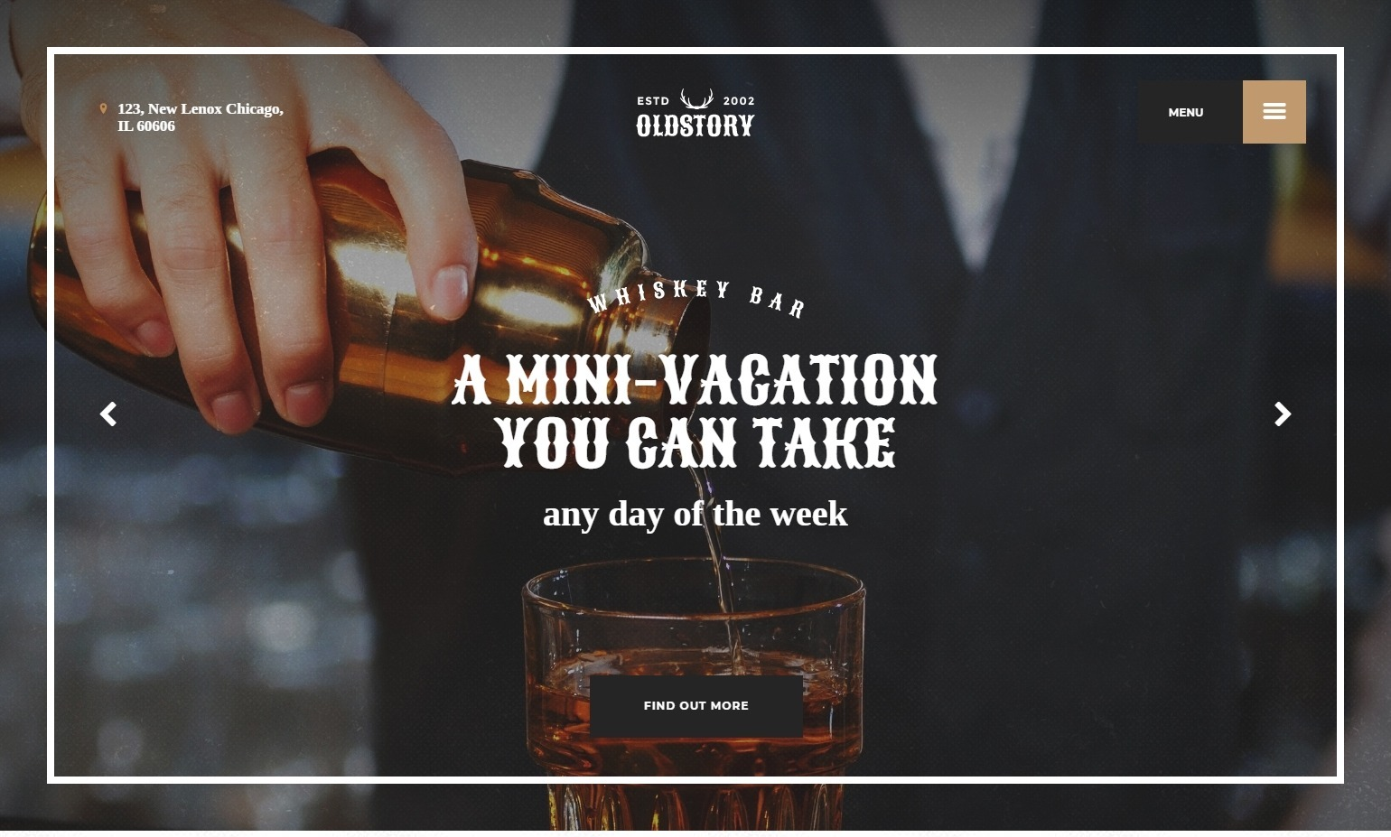 Oldstory Brew Pub and Whiskey Bar Theme