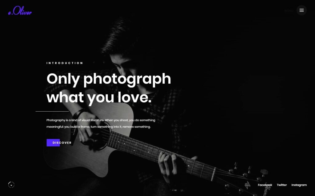 Oliver Photography Portfolio WordPress Theme