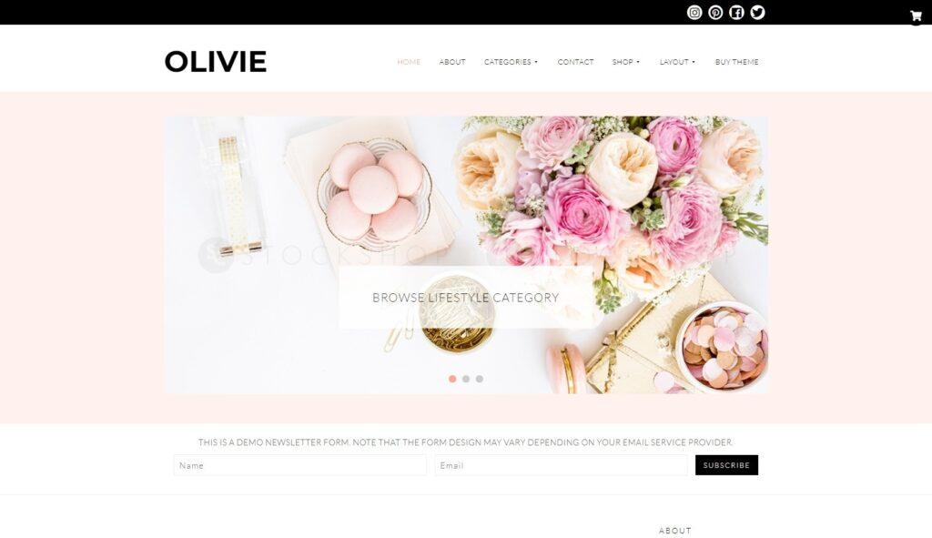 Olivie Feminine Blog Theme for WordPress