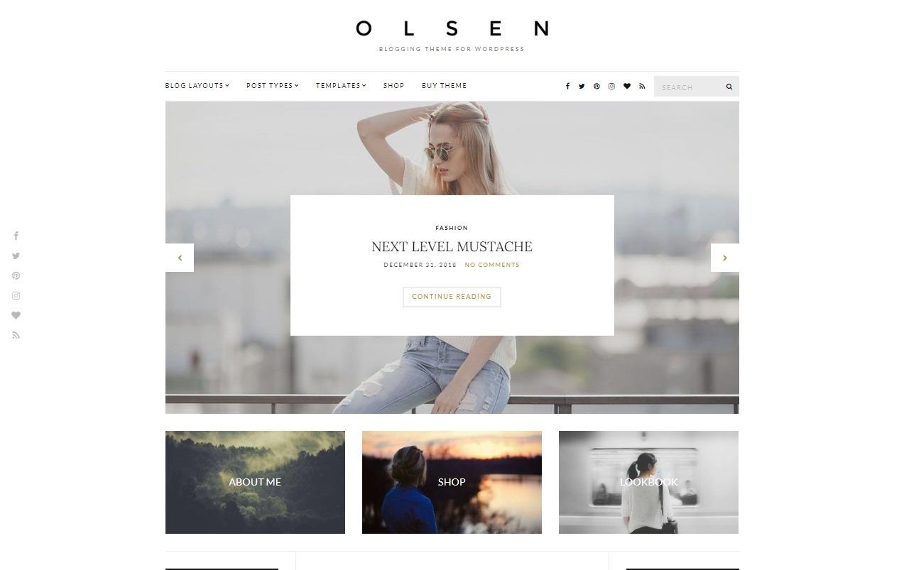 Olsen Clean Minimalist Fashion Shop and Blog