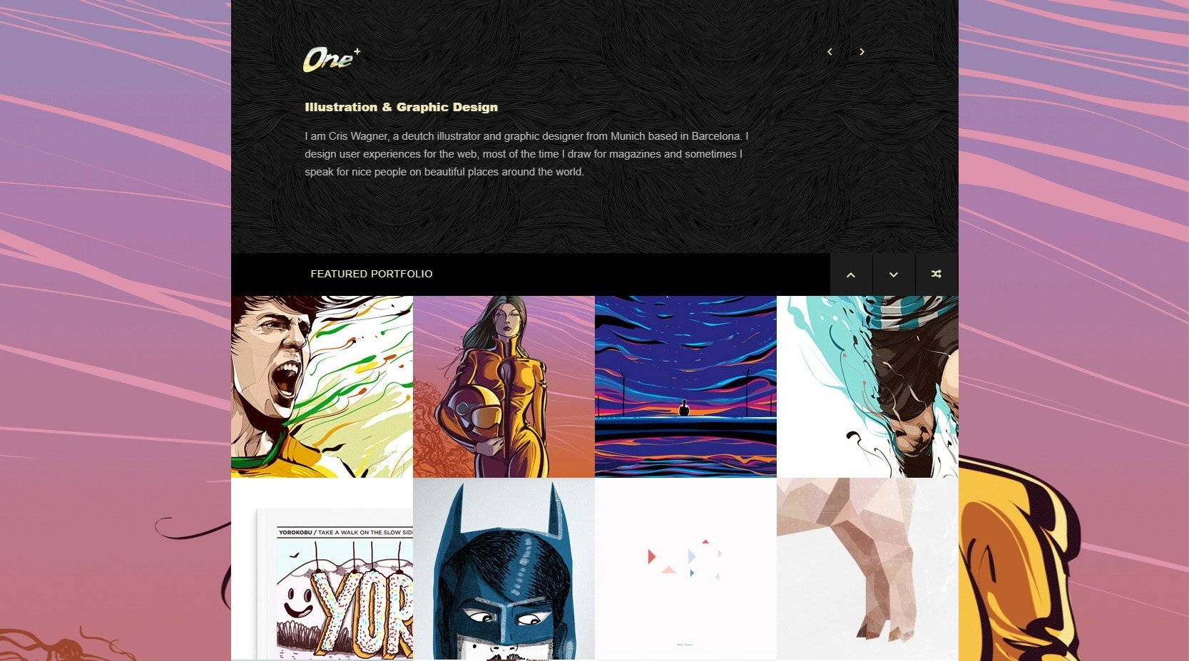 One Plus Illustrators Portfolio Premiun WordPress Theme