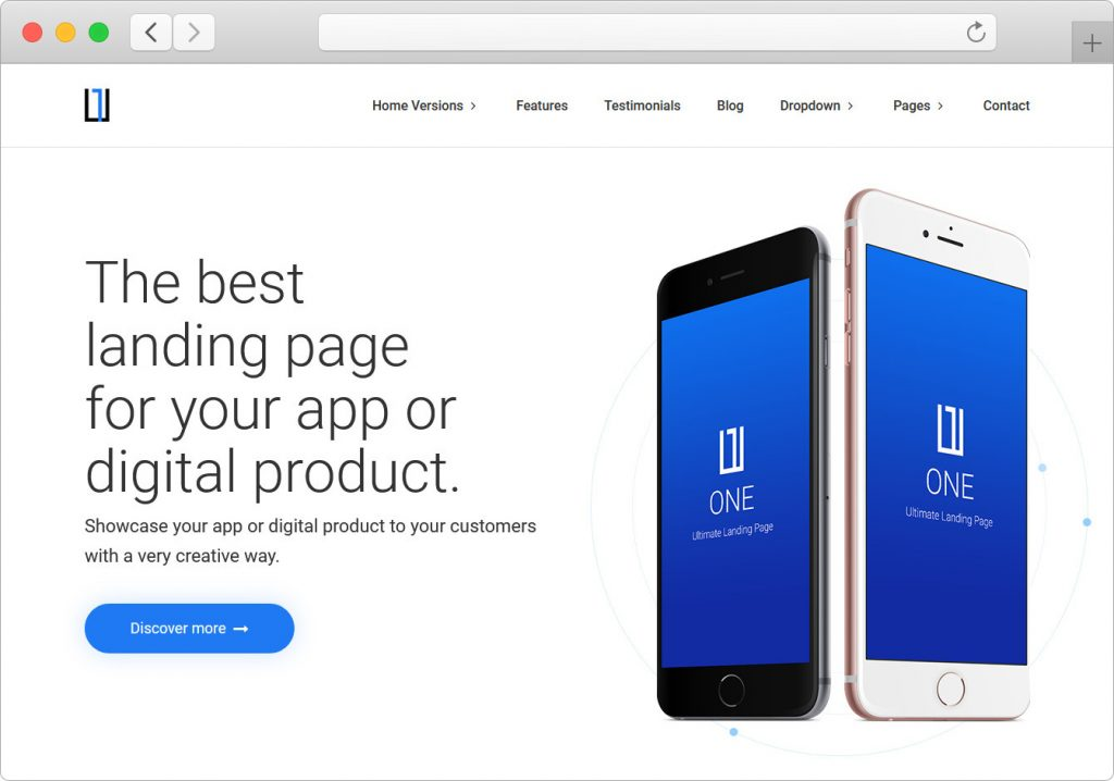 One WordPress Product Landing Page