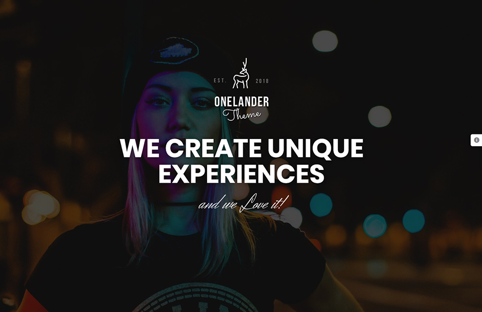 OneLander Creative Landing Page WordPress Theme