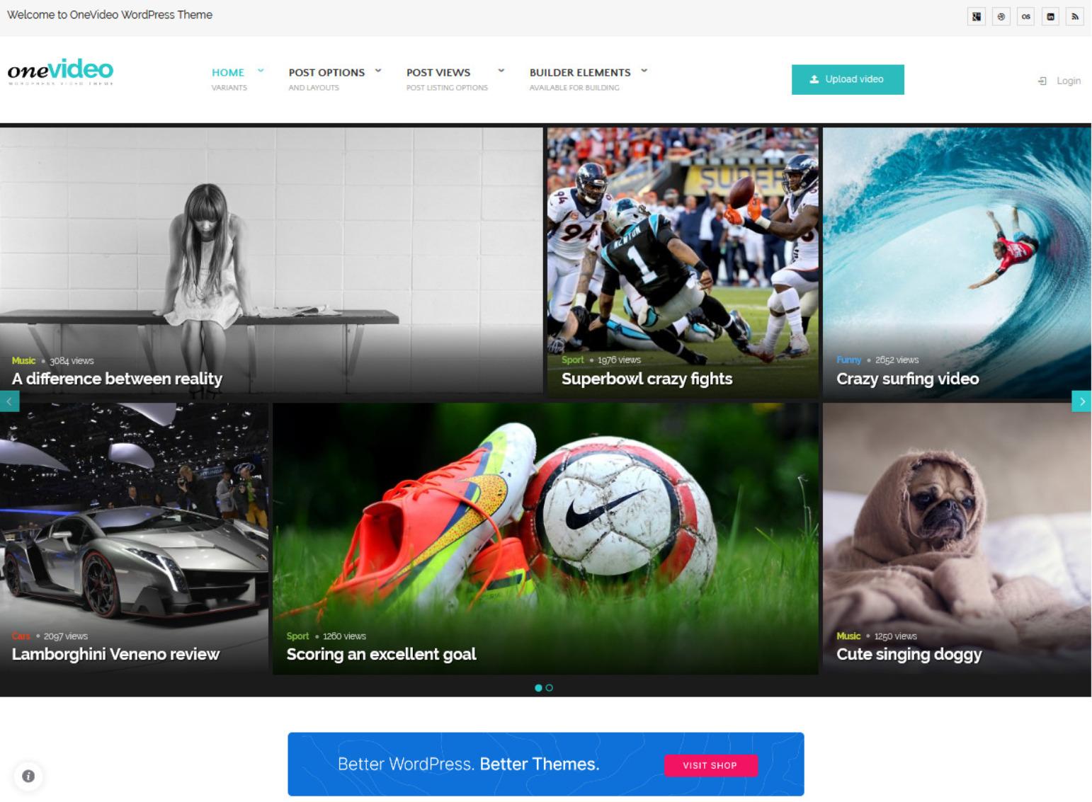 OneVideo Video Community Media WordPress Theme