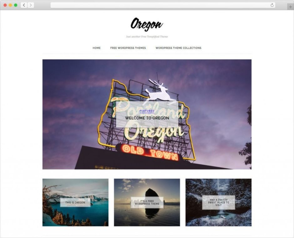 Oregon Free High Quality WordPress Portfolio Theme