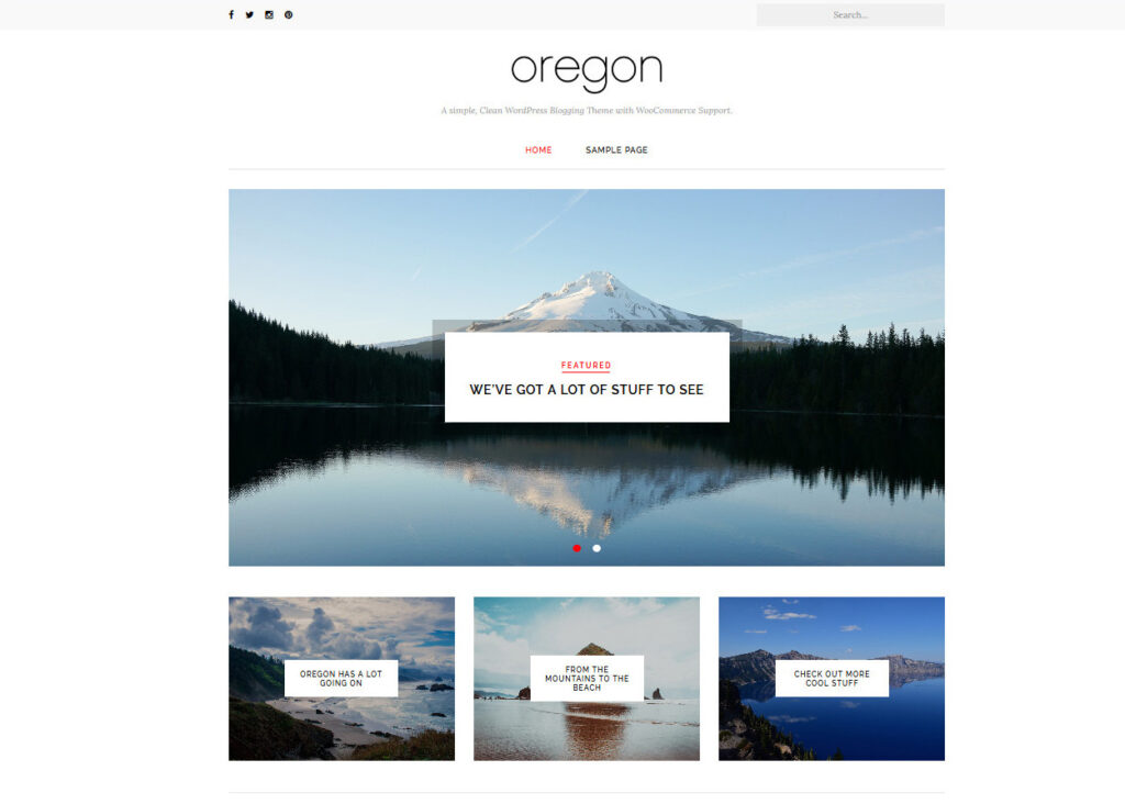 Oregon Free Modern WordPress Theme