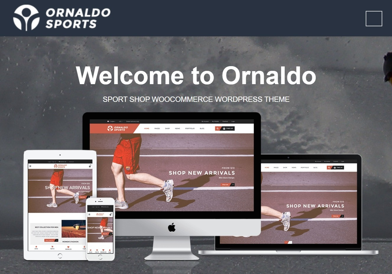 Ornaldo Sport Shop WooCommerce WordPress Theme