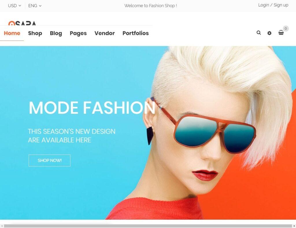 Osapa Fashion Shop WooCommerce WordPress Theme