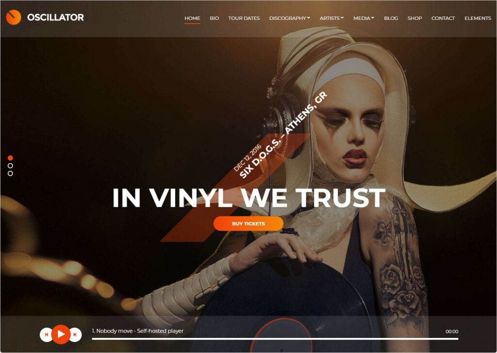 Oscillator Video Music And Podcast Theme For WordPress