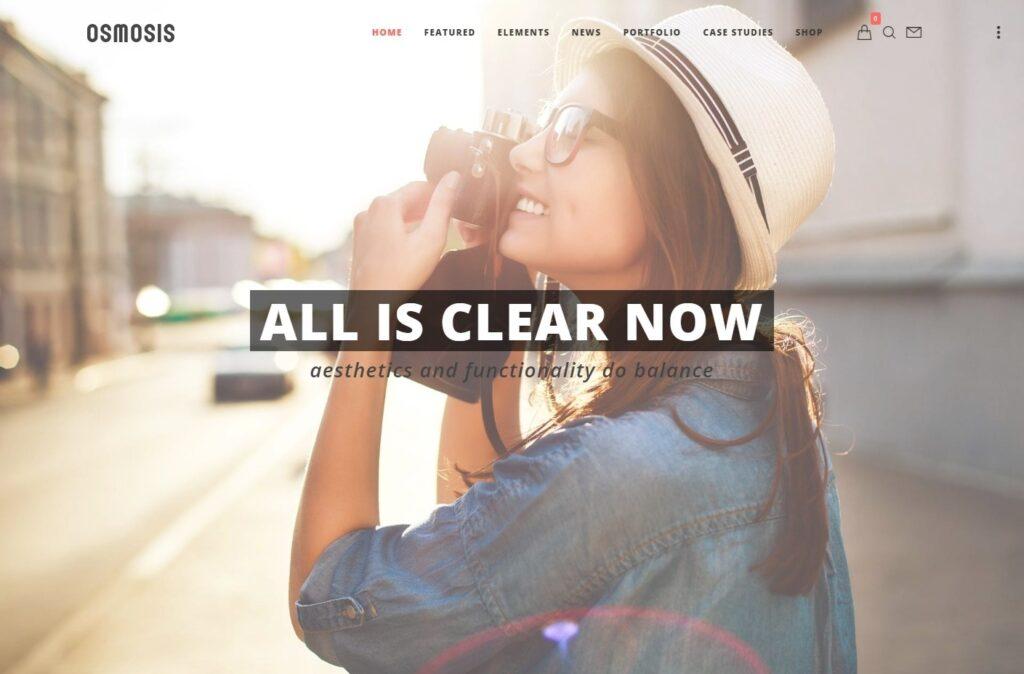 Osmosis Full Screen eCommerce WordPress Theme