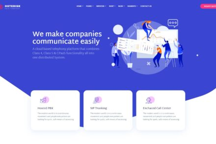 Osterisk VOIP Cloud Services WordPress Theme