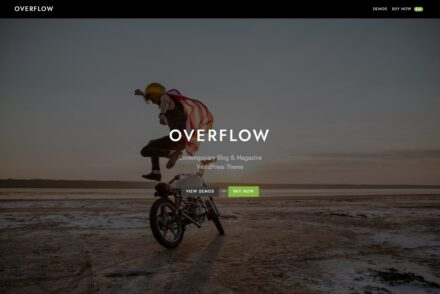 Overflow Contemporary Blog and Magazine WordPress Theme