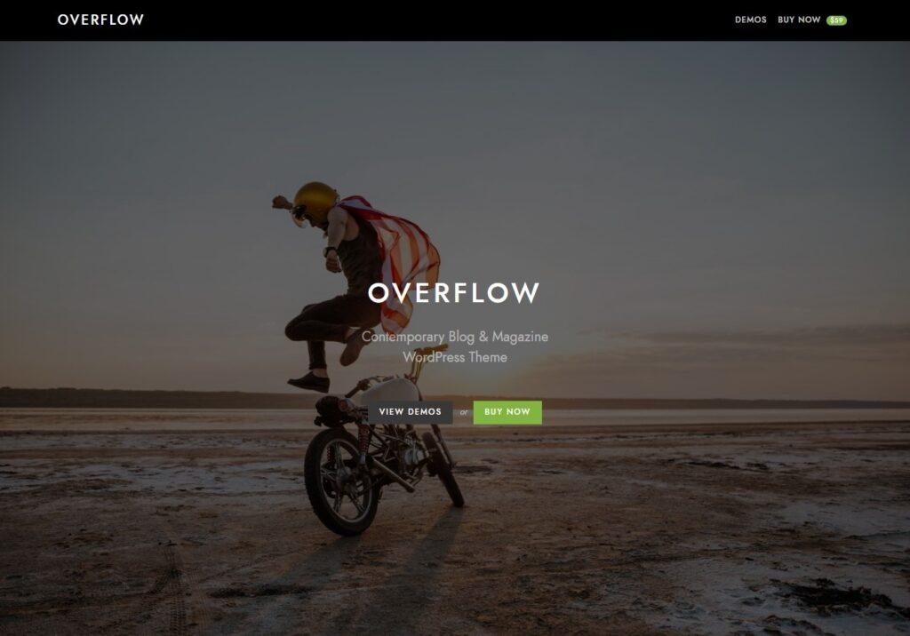 Overflow Simple Contemporart WordPress Magazine Theme