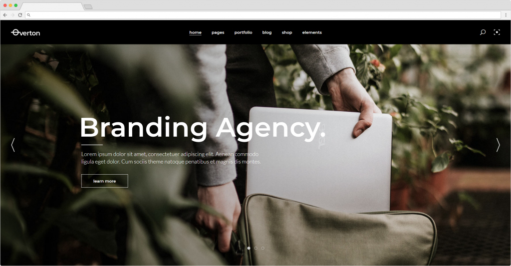 Overton Branding Agency WordPress Theme