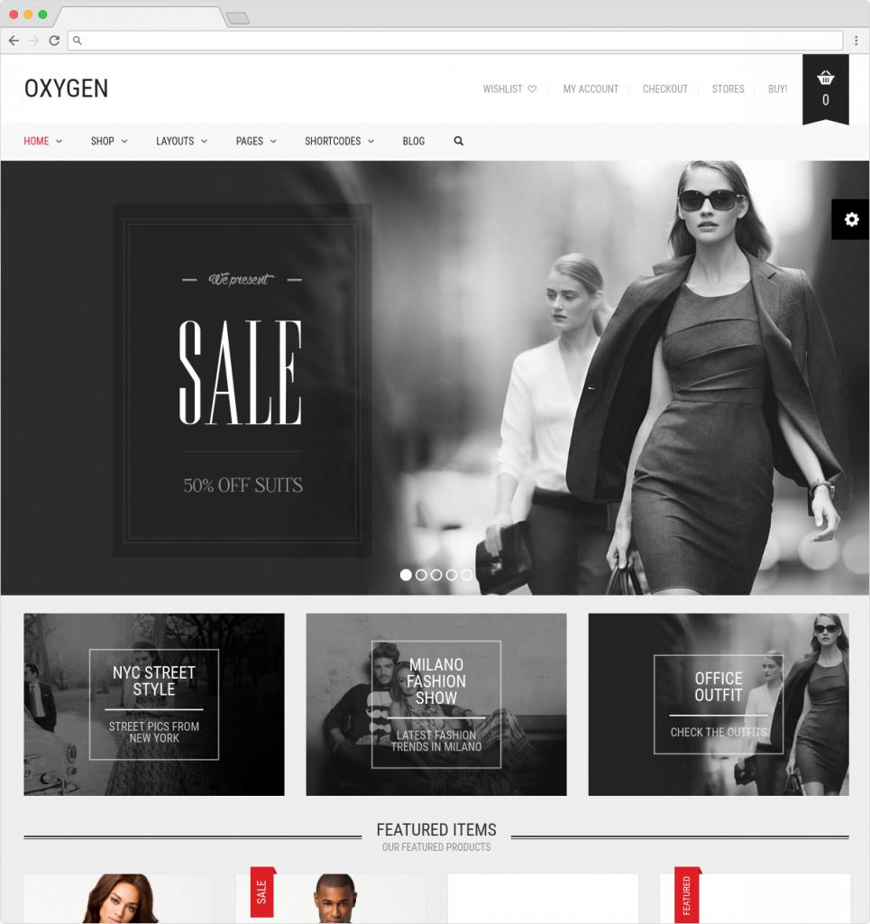 Oxygen WordPress ECommerce Theme