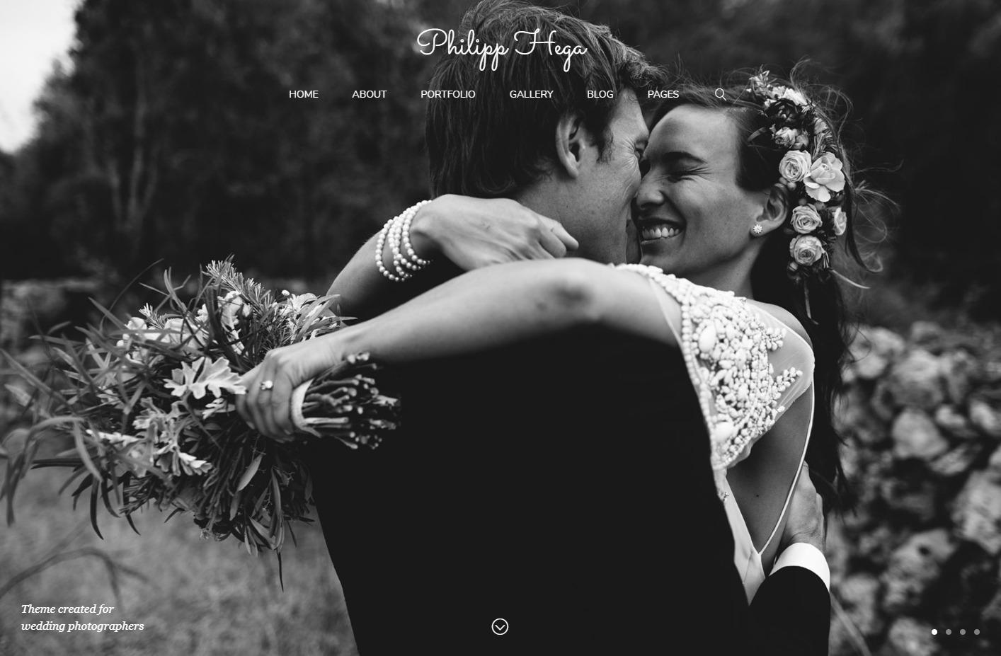 PH Responsive Theme for Wedding Photo Websites