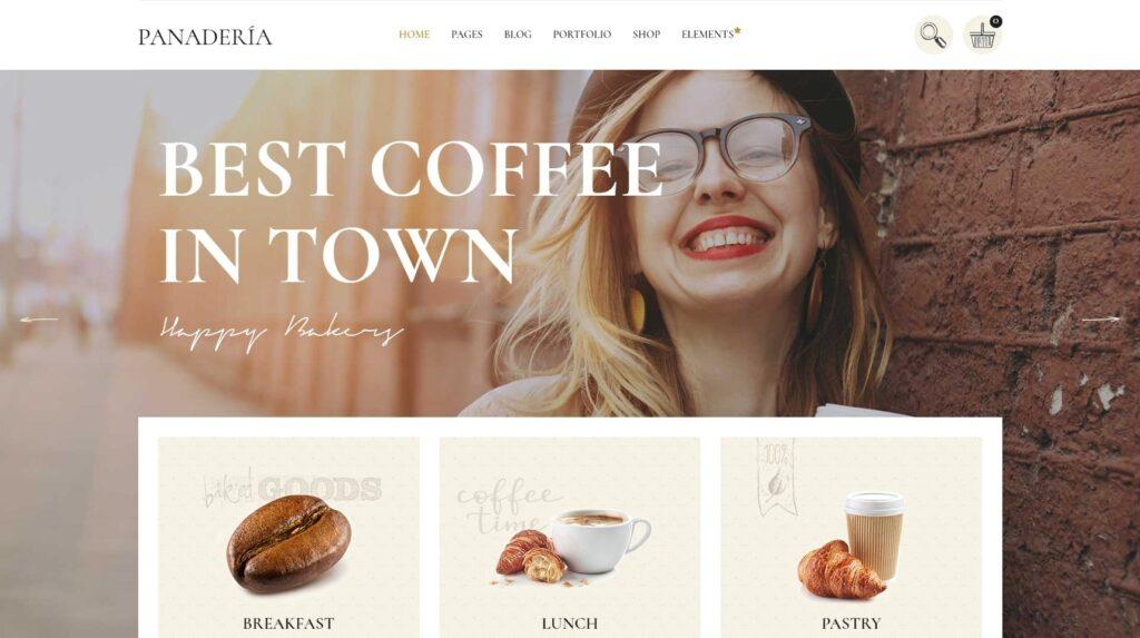 Panaderia Coffee Shop Demo Design for WordPress