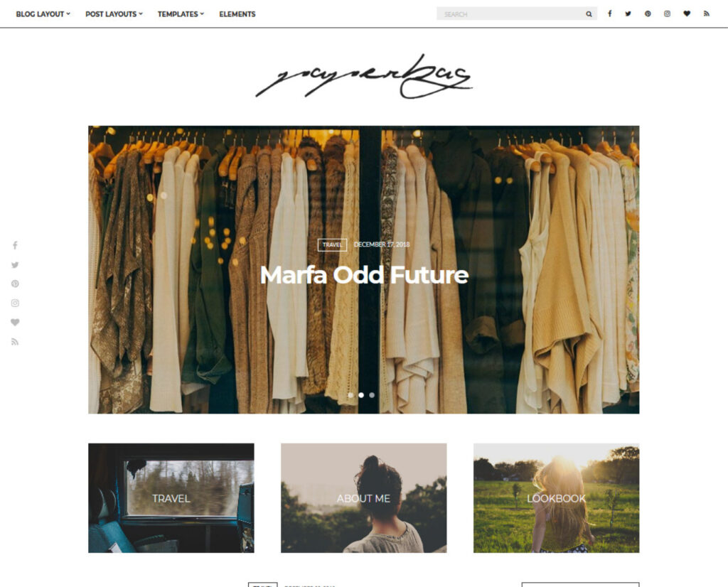 Paperbag WordPress Personal Blog Theme