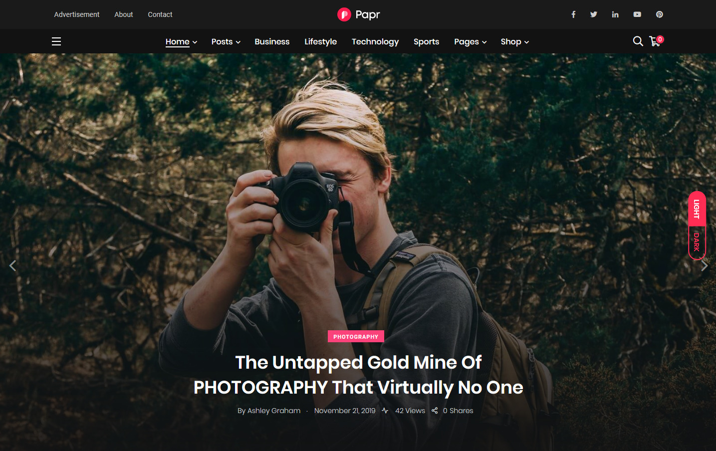 Papr Photojournalism WordPress Theme