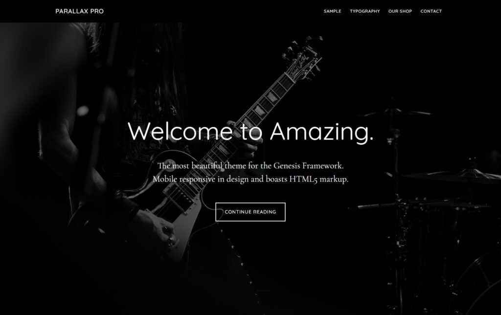 Parallax Pro A Mobile Responsive and HTML5 Theme for Coffee Houses