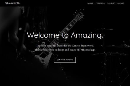 Parallax Pro WordPress Theme for Genesis Framework
