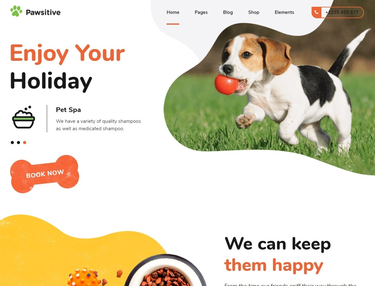 Pawsitive WordPress Theme for Pets Pet Stores and Services