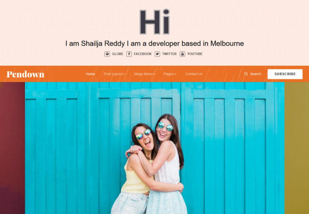 Pendown Newspaper Personal WordPress Blog