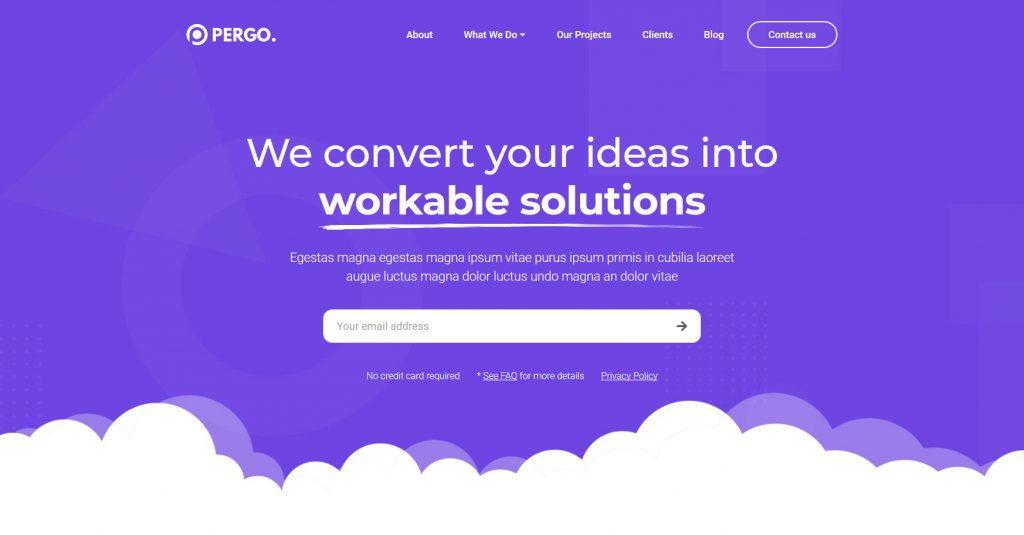 Pergo WordPress Flat Clean Theme