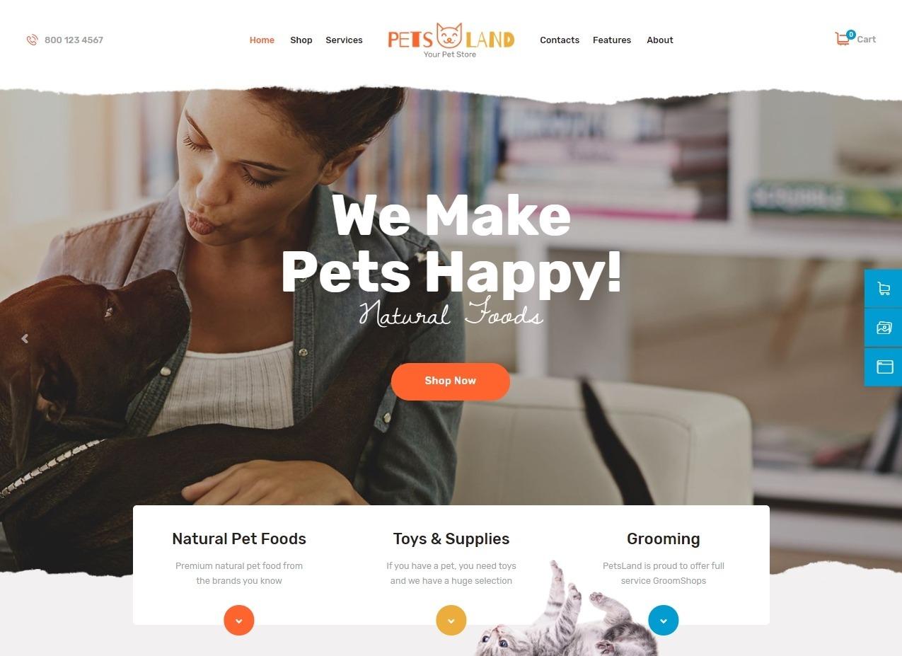 Pets Land Online Shop for Selling Pet Food