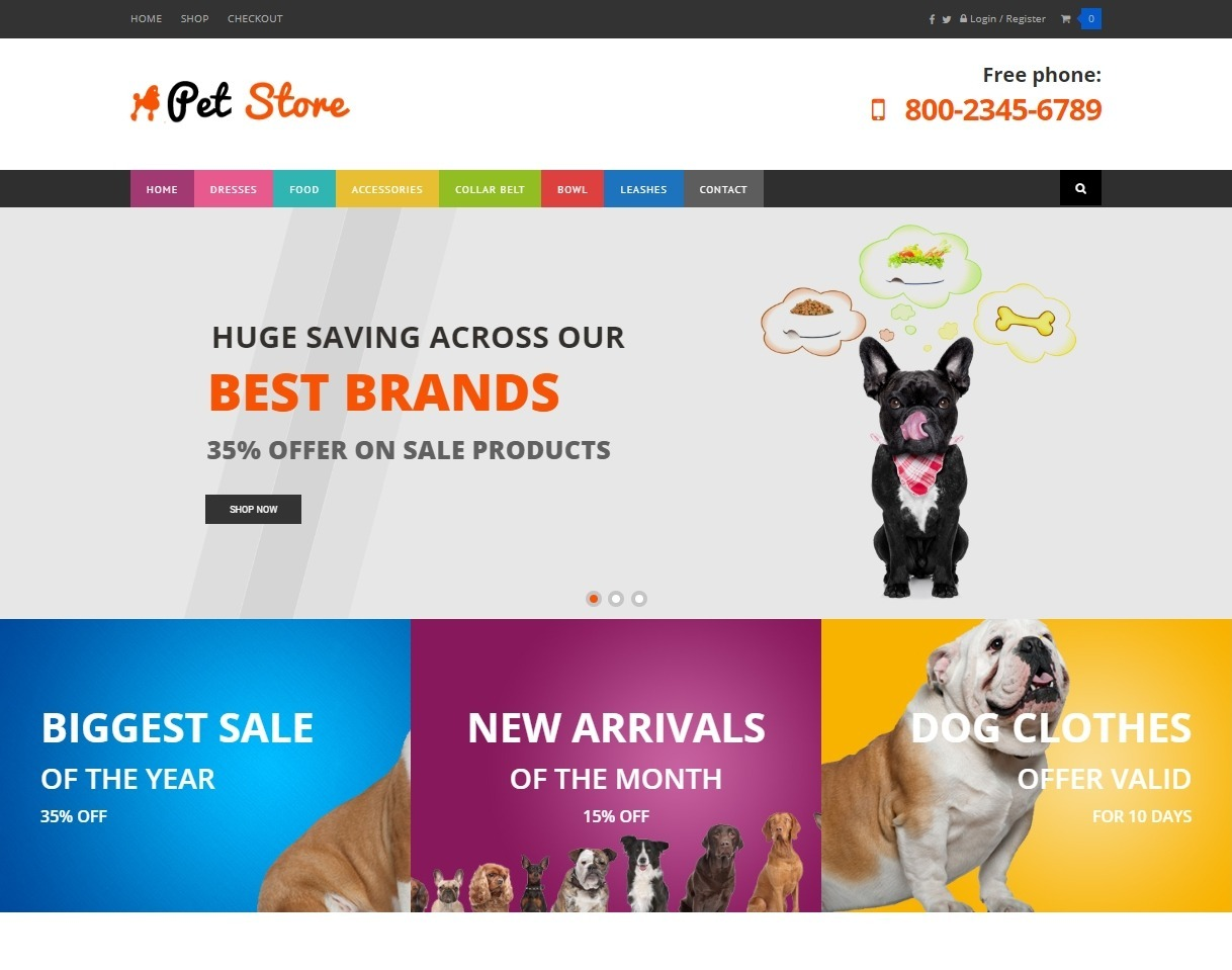 Pets Store WooCommerce WordPress Theme for Pet Stores