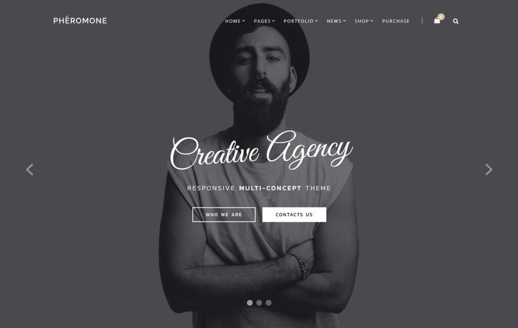 Pheromone Creative Multi Concept WordPress Theme